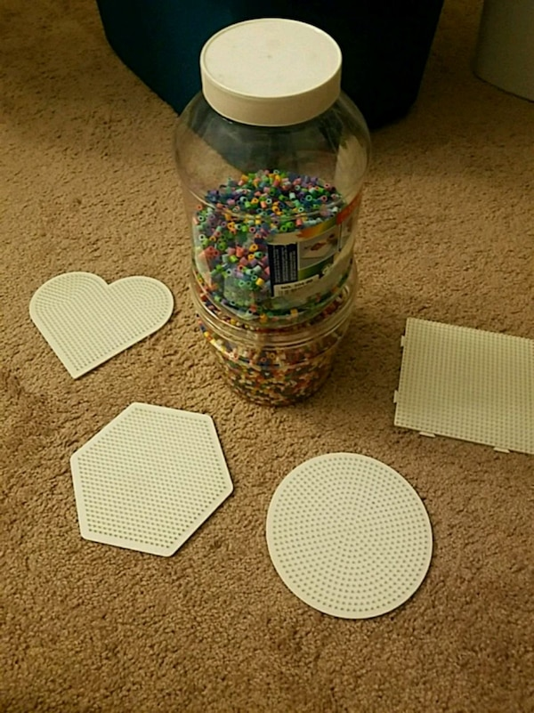 Perler beads and boards