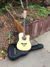 Electric acoustic guitar full size