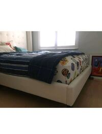 black wooden bed frame and mattress Hollywood, 33019