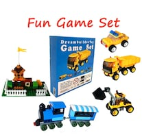 Creative Building Brick Box, Game Set, Fun Classic Games, Train, car,