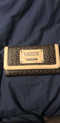 Brown and black leather guess wallet  Beaumont, T4X 0C4