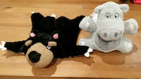two gray and black animal plush toys Lochearn, 21207