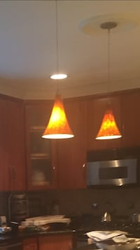 2 Glass Pendant Lights Bethesda, 20814
