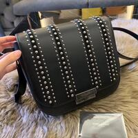 black and brown leather crossbody bag Dallas, 75202