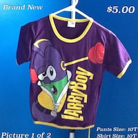 Purple and yellow larryboy pajamas Knoxville, 37902