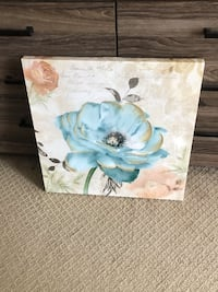 white and blue floral painting Gaithersburg, 20878