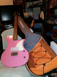 pink and white electric guitar Lake Alfred, 33850