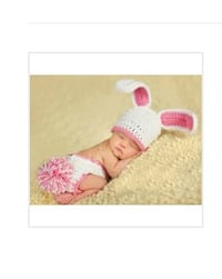Infant crochet Bunny photo prop Toronto, M3M