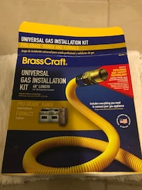 Yellow and black brass craft gas installation kit box Clifton, 07013