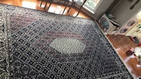 black and gray area rug Chantilly, 20152