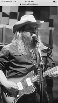Chris Stapleton pair of tickets Westminster
