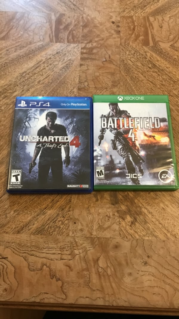 Used Uncharted 4 A Thief S End Ps4 Game Case And Battlefield Xbox