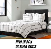 NEW &Affordable BlackLeather Bed Frame Available In Full, Queen, King  Katy, 77493