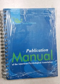 Publication Manual of the American Psychological A Valrico, 33594