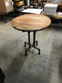 Mango Wood Gas Pipe Bistro Table 717 km