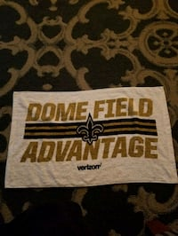 New Orleans Saints Towel from Drew Brees record breaking night Monday  Reading