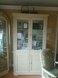 white wooden framed glass display cabinet Harford County, 21085