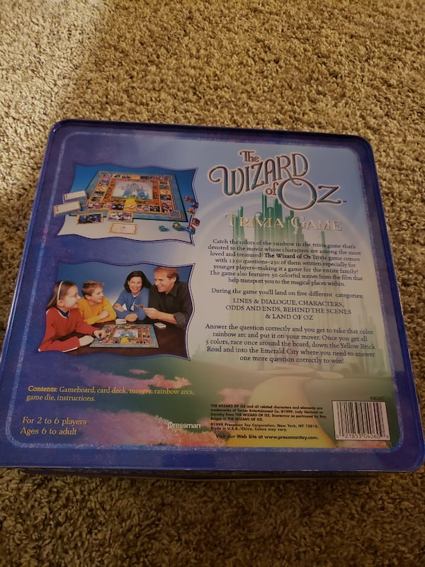 The Wizard of Oz Trivia Game 1