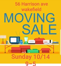 MOVING SALE Wakefield, 01880