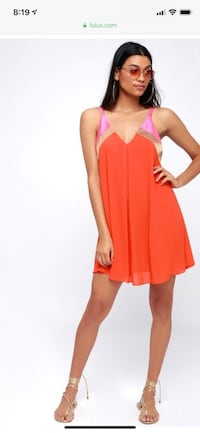 Women's pink sleeveless dress Bowie, 20715