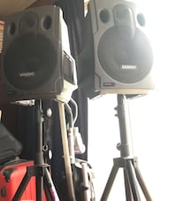 Samson Expedition event speakers model Ex250m with  On stage Stands and microphone included  Alexandria, 22311