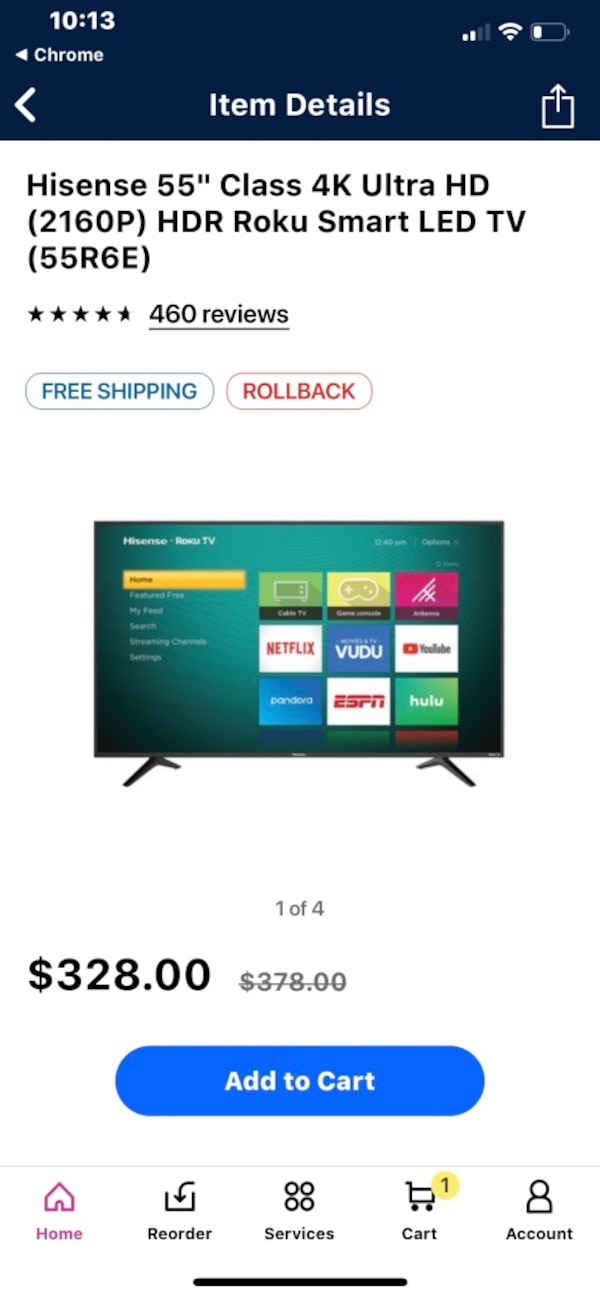 """55"""" hisense smart tv  Only used for 2 weeks  Has wall mount ready to mount   250$ obo"""