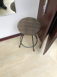two round brown wooden stools Langley, V1M 2E5