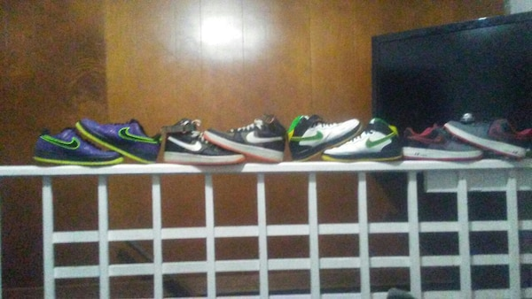 assorted pairs of Nike sneakers