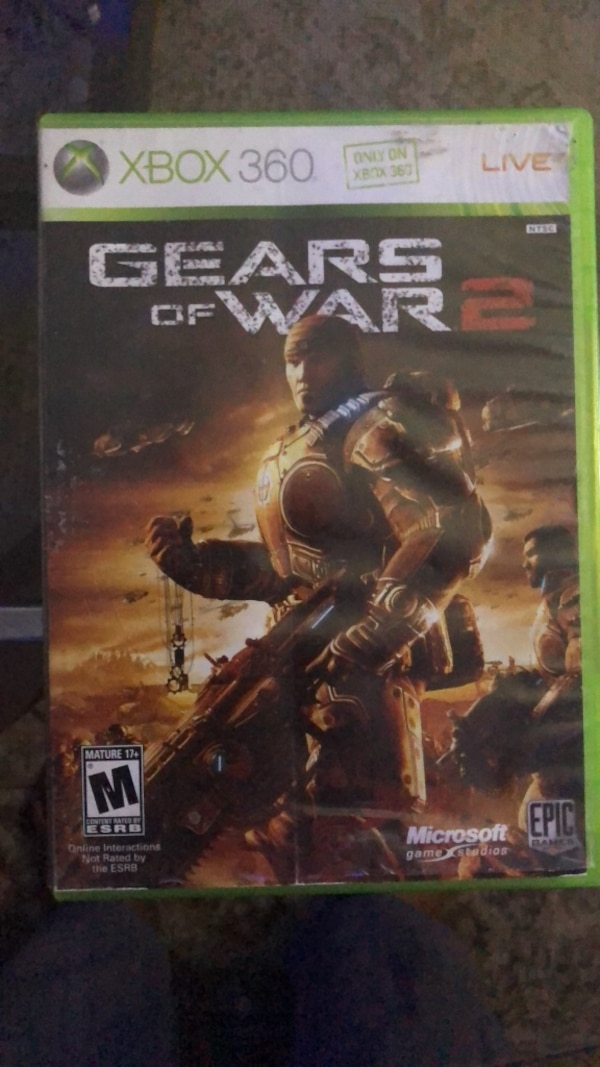 Xbox 360 Gears of War 4 game case
