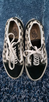 Checkered Van's with laces