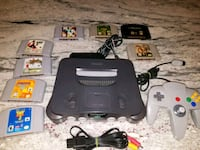 black Nintendo 64 console with controller and game cartridges Bridgeview, 60455
