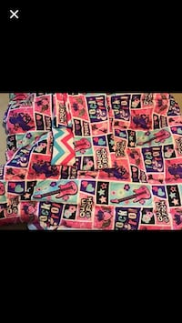 Pink, purple, and blue guitar-themed textile collage Charles Town, 25414