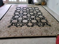 white and black floral area rug Tysons, 22102