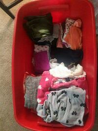 assorted-color clothes lot 282 mi