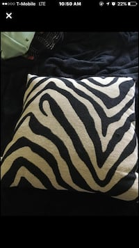 white and black zebra print throw pillow 470 mi
