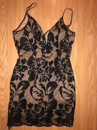 Tan/black dress size m  party  Toronto, M3B 3R7
