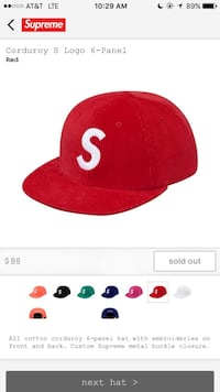 BRAND NEW NEVER worn supreme hat SUEDE Ottawa, 61350