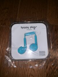 New Happy Plugs Blue Headphones