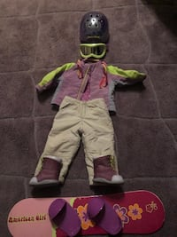 American Girl Doll-doll, bed that fits, AGD Camper, AGD Wheelchair, AGD Puppies, bed and carrier, snowboarding outfit and much more. Price depends on item