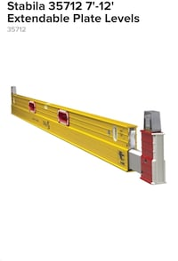 Stabilla 7ft-12ft plate level practically brand new  Ontario, 91761