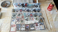 assorted ice hockey trading card collection