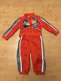 Lightning McQueen snow/warm suit could even be costume? 3730 km