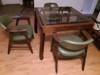 Table and 2 chairs 1/2 thick glass
