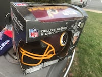 Black washington redskins football helmet box 55 km