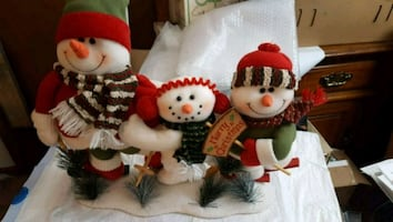 Christmas Skiers Table Top Decoration