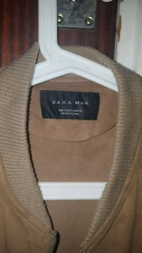 brun Zara Man zip-up jacka