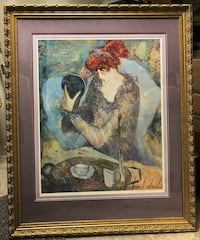 "Barbara A. Wood Limited Edition Offset Lithograph ""Rosebud"" Baltimore"