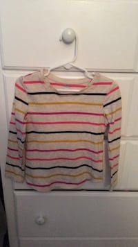 white, red, and black striped sweater West Chicago, 60185