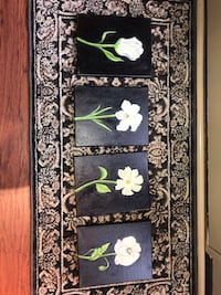 Set of four floral oil paintings Urbana, 21704