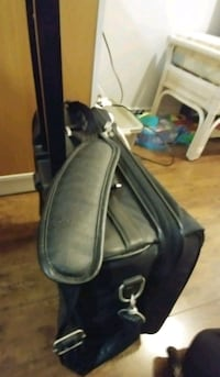 Danier leather rolling laptop briefcase carry on   3728 km